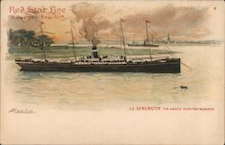 Red Star Line - S.S. Kensington. Antwerpen - New York. Ship is pictured.