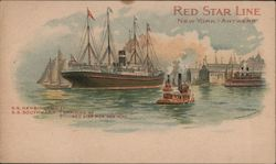 Red Star Line New York-Antwerp - Boats in a harbor