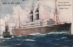 Red Star Line - Steam Ship Westernland