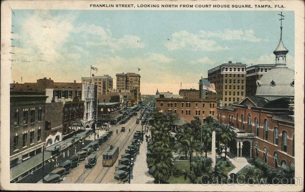 Franklin Street looking North from Court House Square Tampa Florida