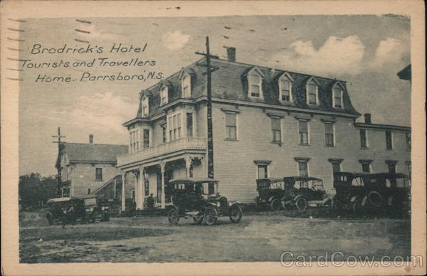 Brodrick's Hotel Tourists and Travellers Home Parrsboro Nova Scotia Canada
