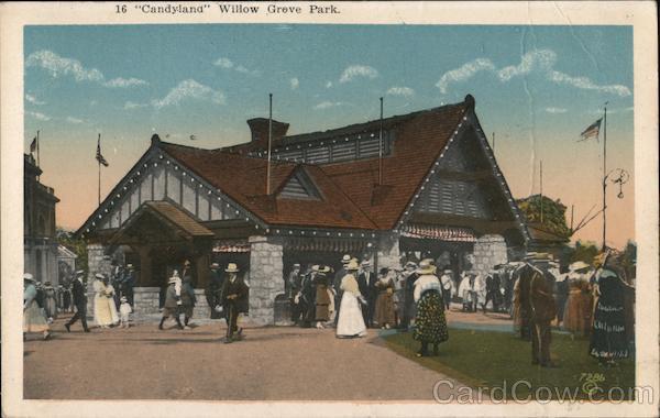 fc4911f98fb5d Candyland Willow Grove Park Pennsylvania Postcard