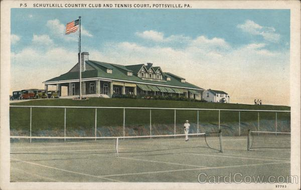 Schuylkill Country Club and Tennis Court Pottsville Pennsylvania