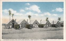 Outdoor School for Cooks and Bakers, Camp Devens Postcard
