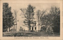 Congregational Church, Yale Monument Postcard