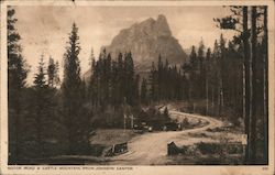 Motor Road & Castle Mountain, From Johnson Canyon Postcard