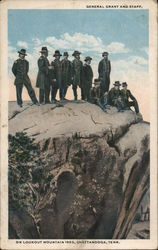 General Grant and Staff on Lookout Mountain, 1863