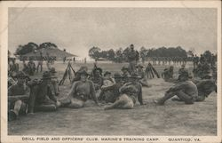 Drill Field and Officers' Club, Marine's Training Camp