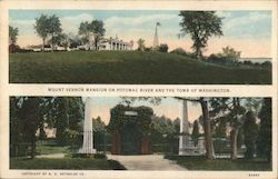 Mount Vernon Mansion and Tomb of Washington Postcard