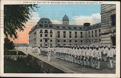 Line-up for Roll Call at Bancroft Hall, Naval Academy