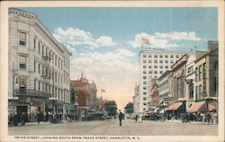 Tryon Street, Looking South from Trade Street