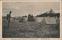 Pitching Tents, Marine's Training Camp