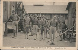Company Street Scene, Marine's Training Camp