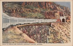 Santa Fe Streamliner Crossing Johnson's Canyon, Arizona