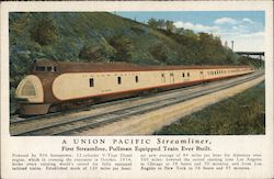 A Union Pacific Streamliner, First Streamline, Pullman Equipped Train Ever Built