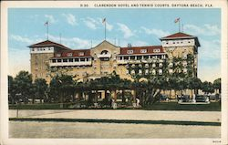 Clarendon Hotel and Tennis Courts Postcard