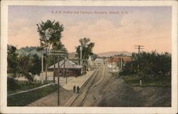B & M Station and Cardigan Mountain Postcard