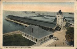 C & O Station and Pier Postcard