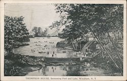 Thompson House, Swimming Pool and Lake