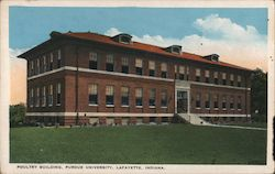 Poultry Building, Purdue University Postcard