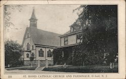 St. Roses Catholic Church and Parsonage Postcard