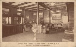 Office and Lobby McLeod Hotel, Opposite New York Central Depot Postcard