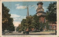 Court House and Baptist Church Postcard