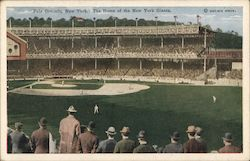 Polo Grounds, New York. The Home of the New York Giants
