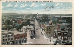 View From New State Capitol, Looking West Postcard
