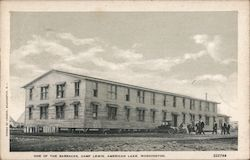One of the Barracks, Camp Lewis Postcard
