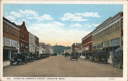 Scene on Commerce Avenue Postcard