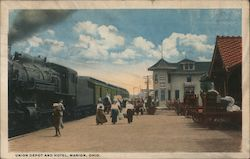 Union Depot and Hotel Postcard