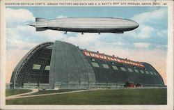 GOODYEAR-ZEPPELIN CORP'S. AIRSHIP FACTORY AND DOCK AND U.S. NAVY'S SHIP LOS ANGELES, AKRON, OHIO