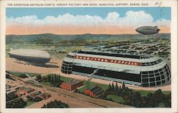 The Goodyear-Zeppelin Corp's. Airship Factory and Dock, Municipal Airport