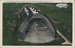 The Goodyear-Zeppelin Corp's. Airship Factory and Dock Postcard