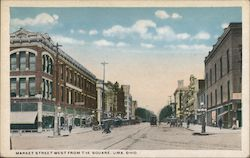 Market Street West from the Square Postcard