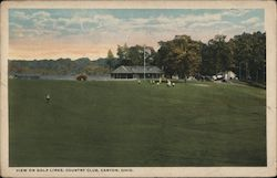 View on Golf Links, Country Club Postcard