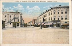 Front St. Looking South from Hotel Fremont Postcard