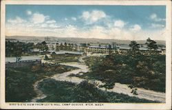 Bird's-Eye View from Ley's Hill, Camp Devans Postcard