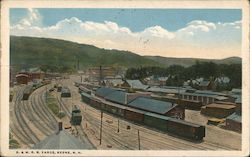 B & M RR Yards Postcard