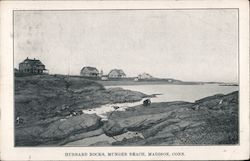 Hubbard Rocks, Munger Beach Postcard