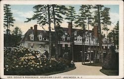 Gould's Residence at Georgian Court Postcard