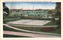 Halloween Park, Bird's Eye View of Tennis Court and Grounds Postcard