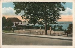 Casino and Tennis Court Postcard