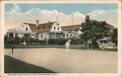 Mohawk Club Tennis Court Postcard