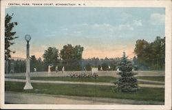 Central Park - Tennis Court Postcard