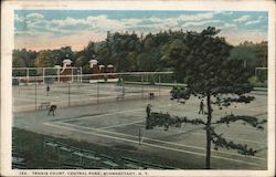 Tennis Court - Central Park Postcard