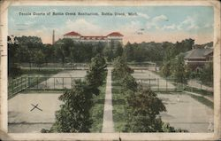 Tennis Courts of Battle Creek Sanitarium Postcard