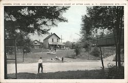 General Store and Post Office from the Tennis Court at Otter Lake