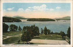Saranac Lake from Algonquin Hotel, Adirondacks Postcard